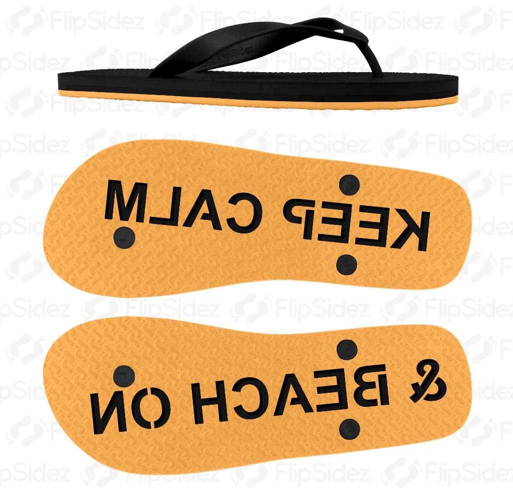 Keep Calm & Beach On Flip Flops