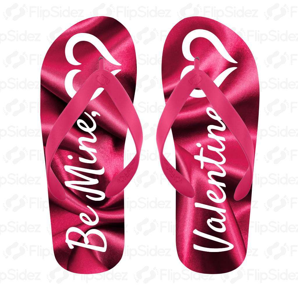 Be Mine Valentine Flip Flops