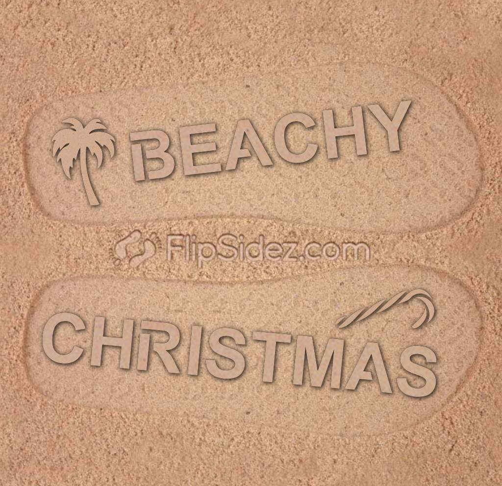 Beachy Christmas Flip Flops