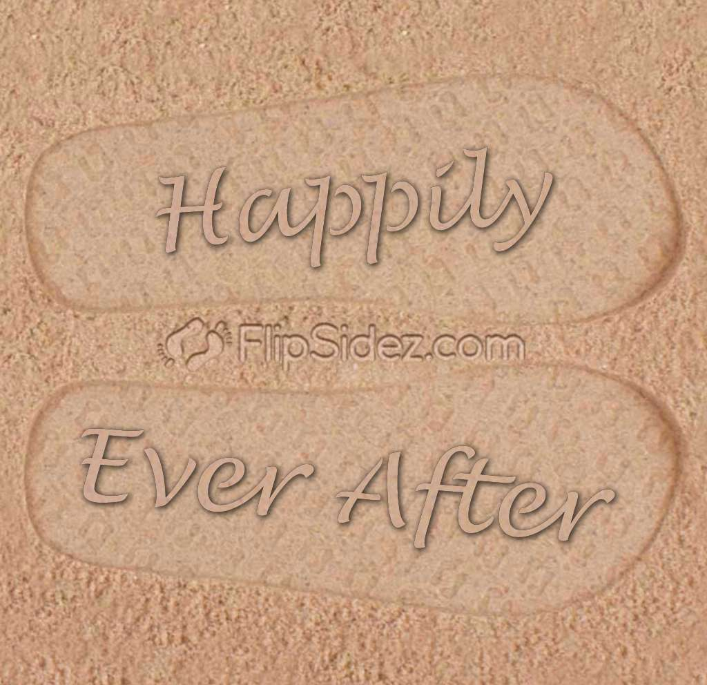Happily Ever After Flip Flops