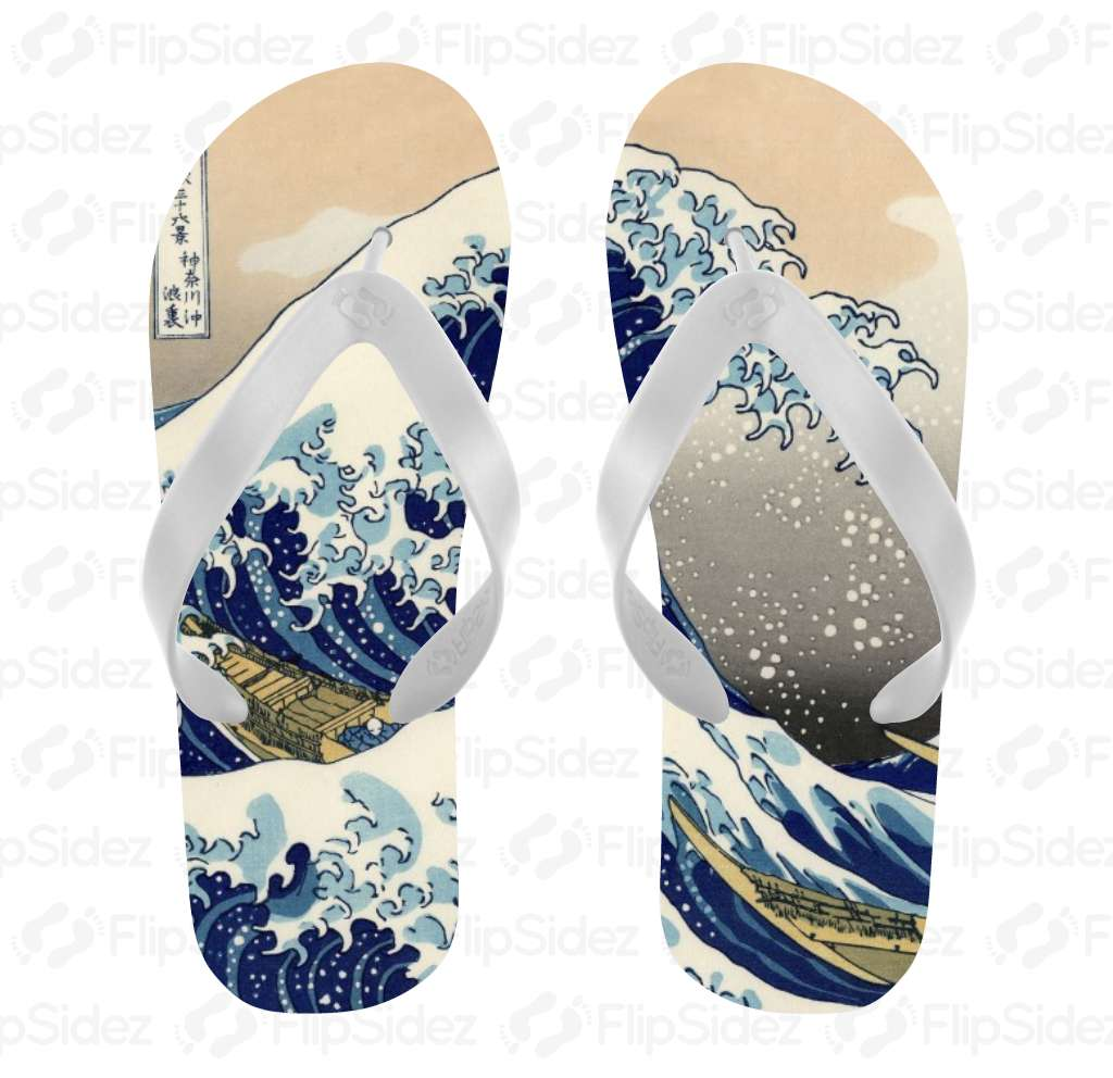 The Great Wave Off of Kanagawa  Flip Flops