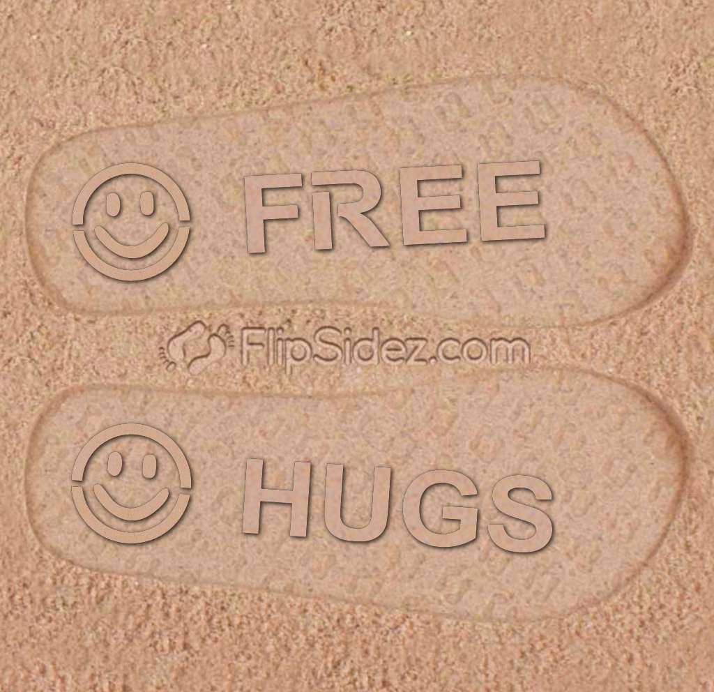 FREE HUGS Flip Flops
