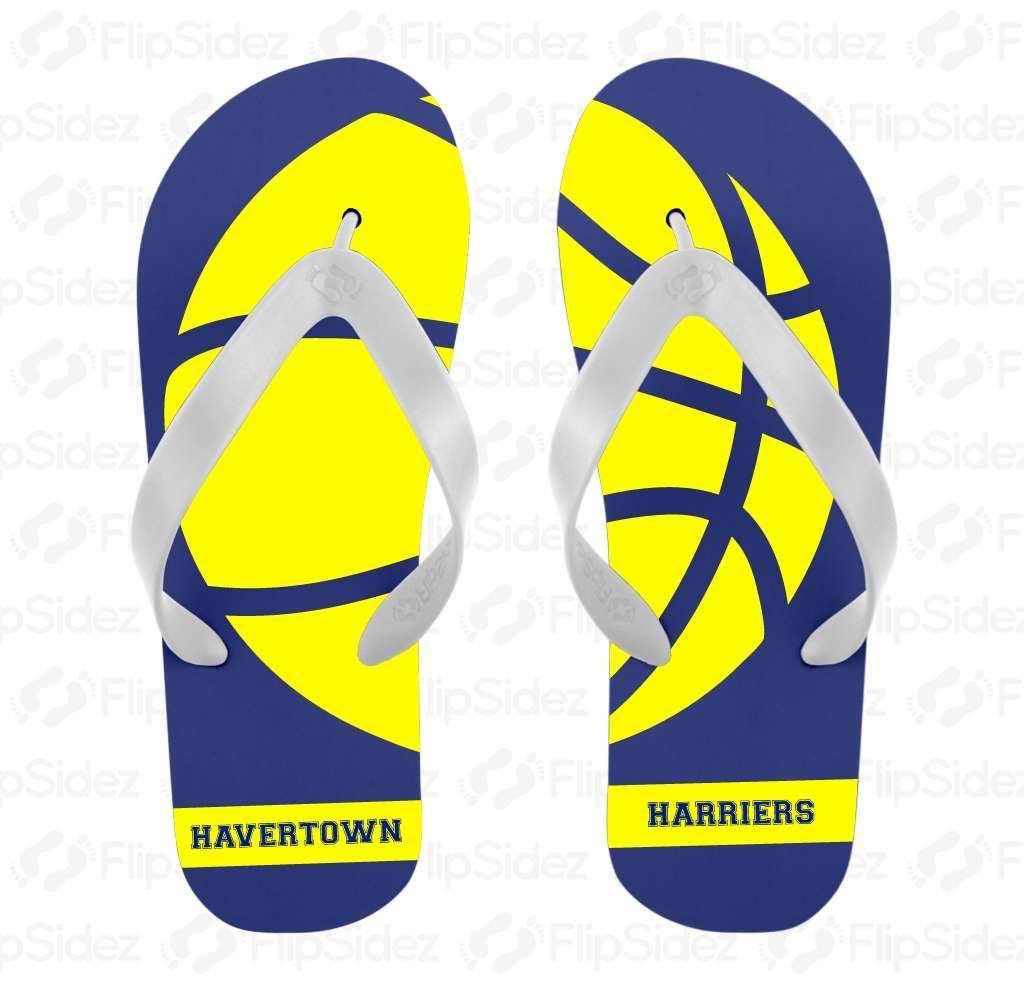 Basketball Team Flip Flops