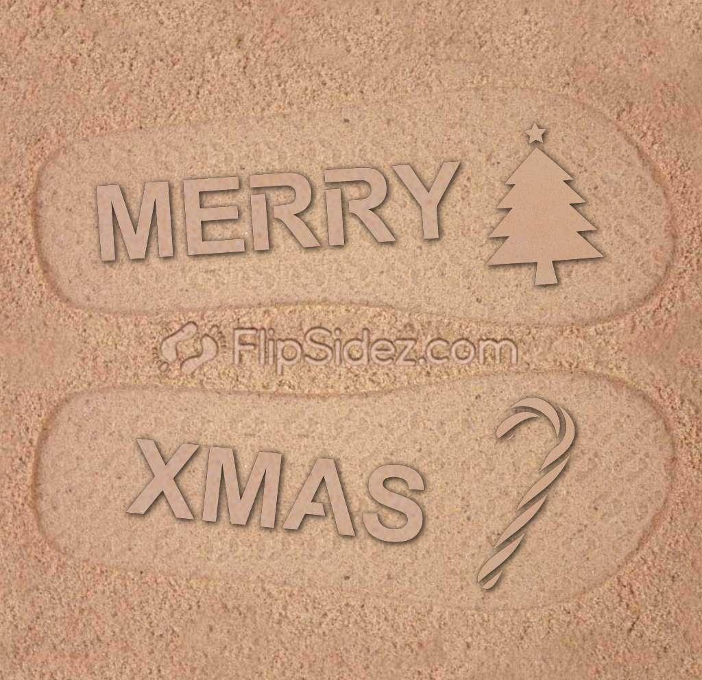 Merry Xmas Flip Flops