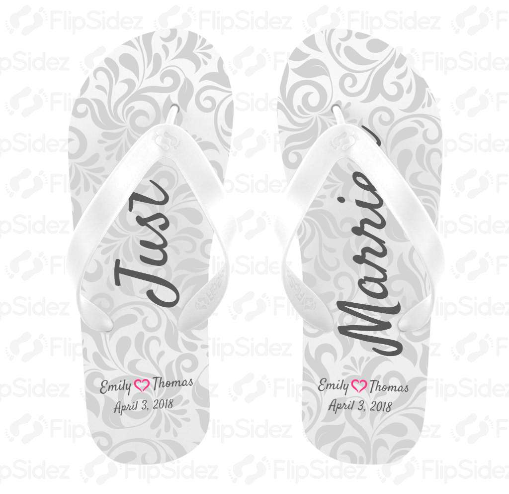 Just Married Flip Flops Flip Flops