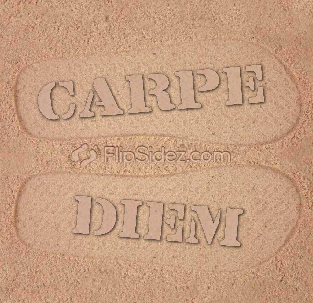 Carpe Diem Flip Flops