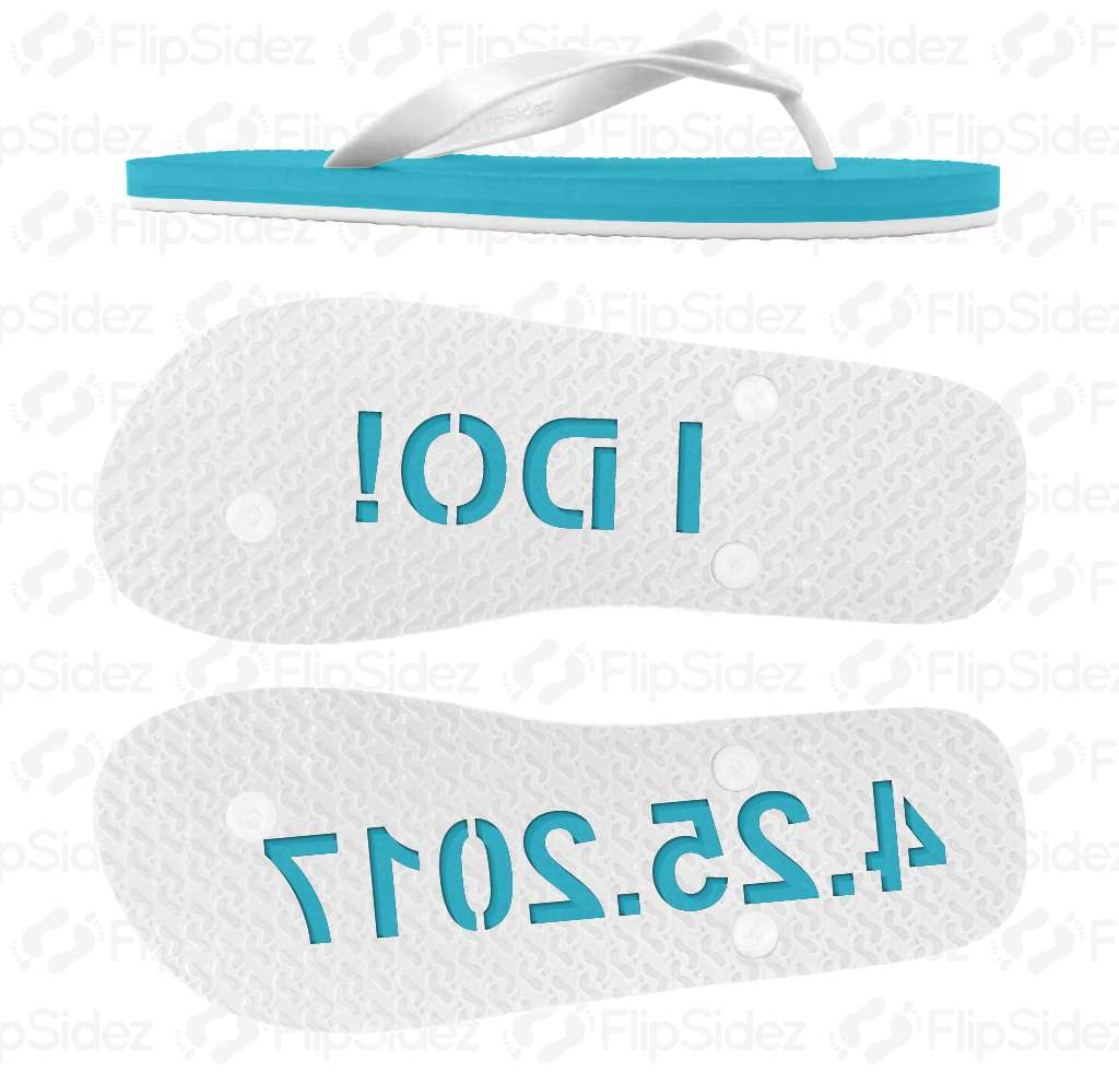 I DO! Wedding Sandals Flip Flops