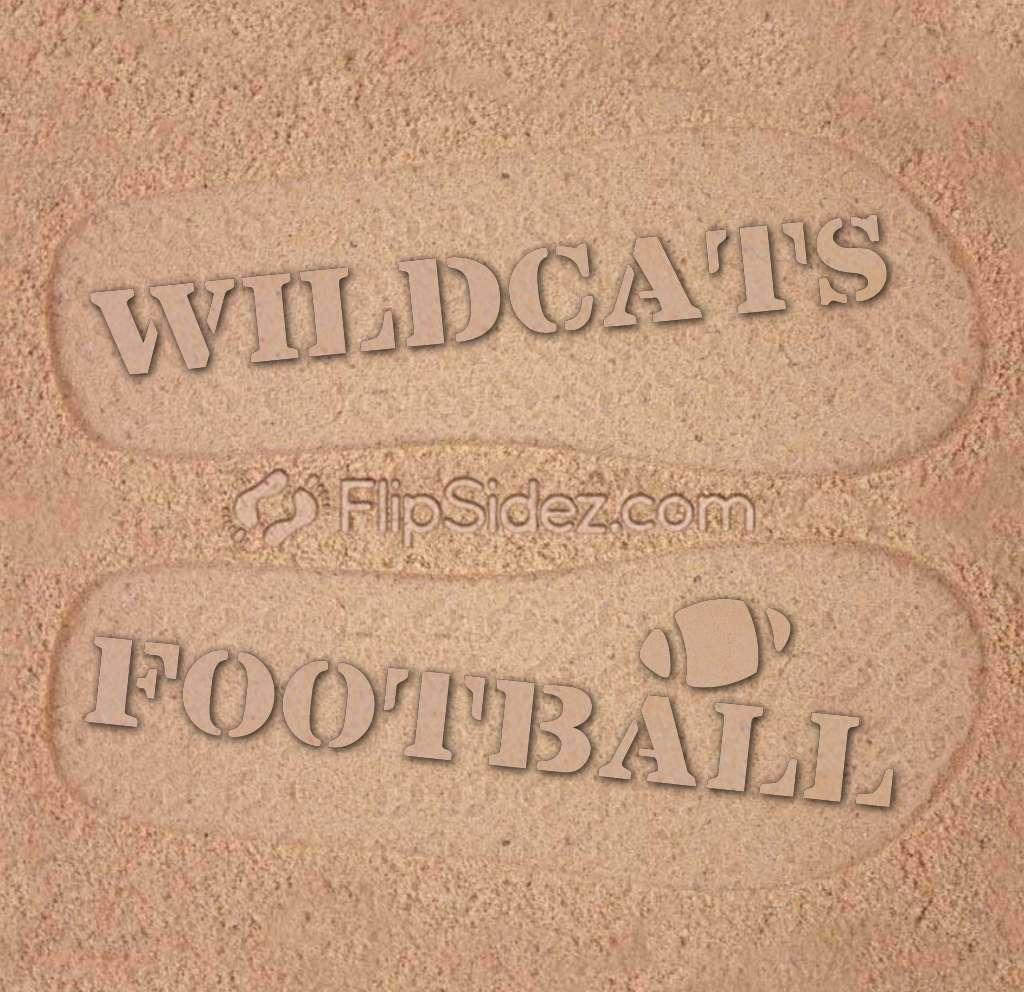 Football Team NAME Flip Flops