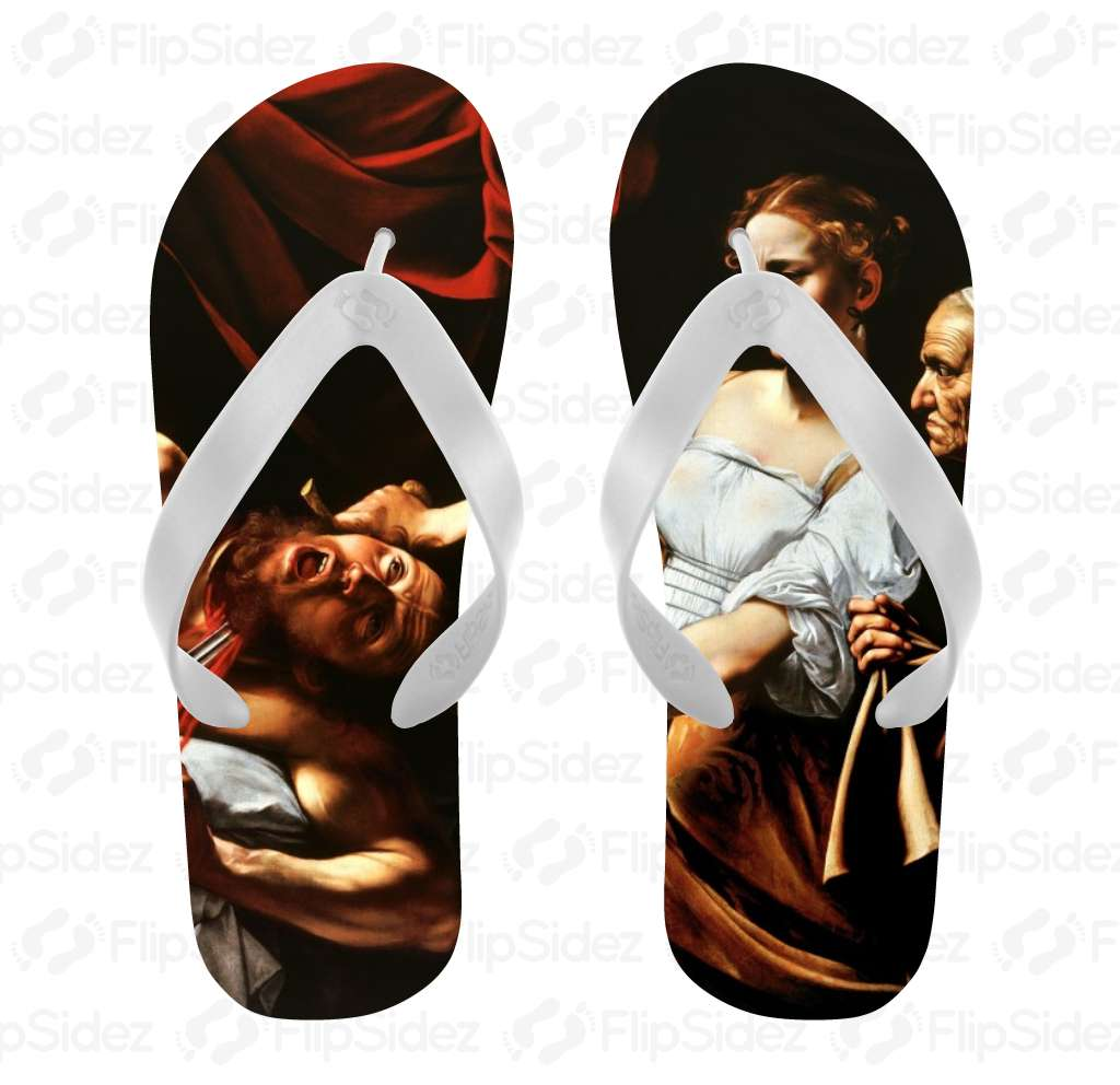 Judith Beheading Holofernes Flip Flops