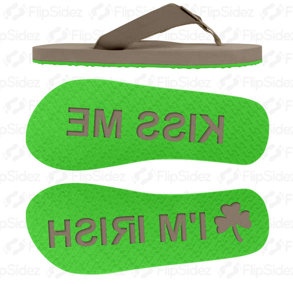 KISS ME I'M IRISH Flip Flops