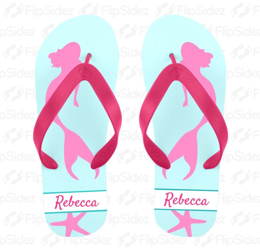 Mermaid Flip Flops Flip Flops