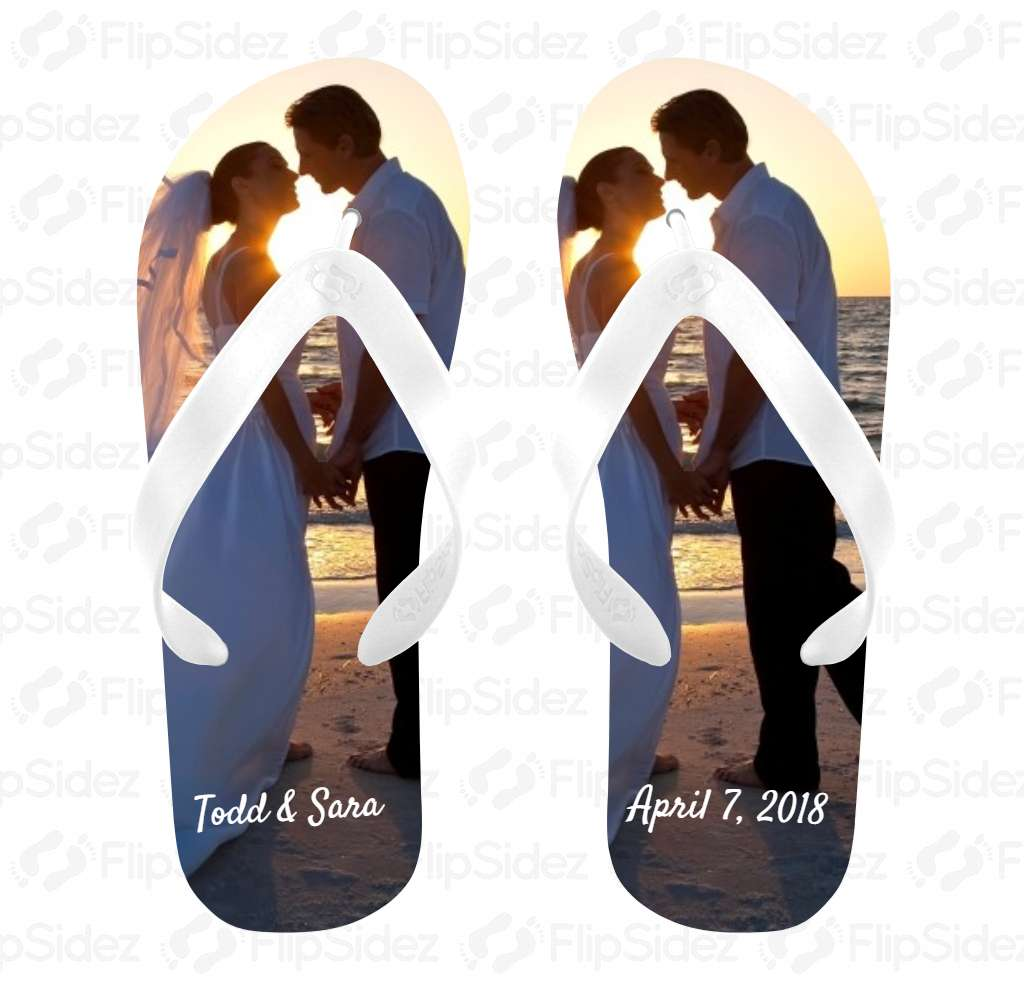 Wedding Photo Flip Flops Flip Flops