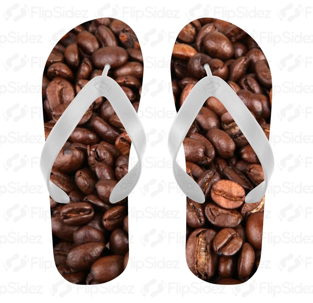 Coffee Bean Flip Flops Flip Flops