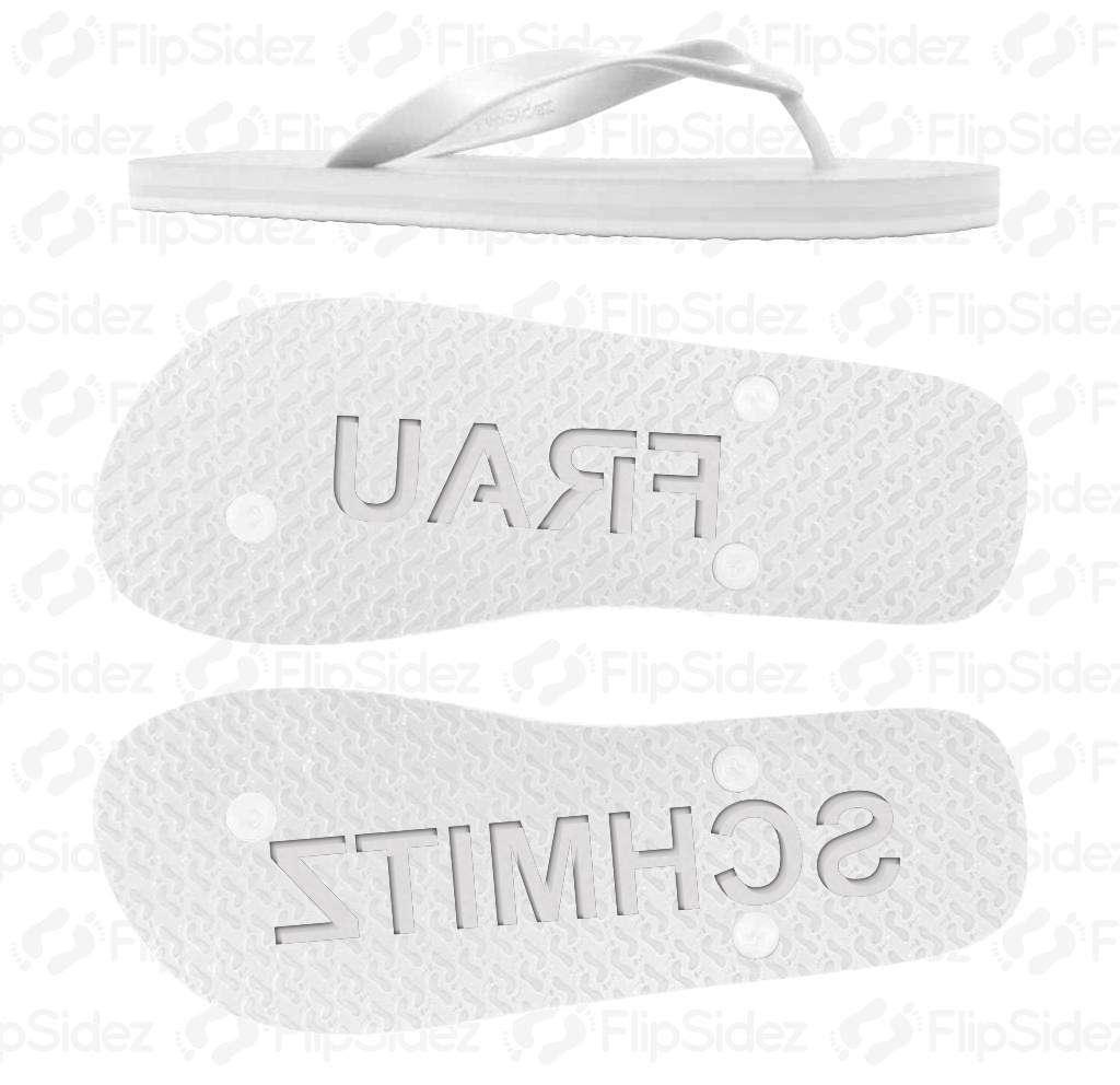 Personalisierte Braut Flip Flops