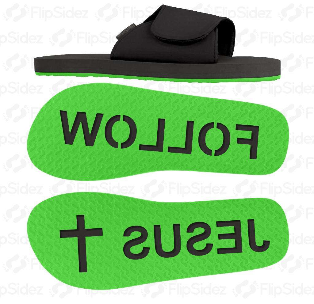 Follow Jesus Flip Flops
