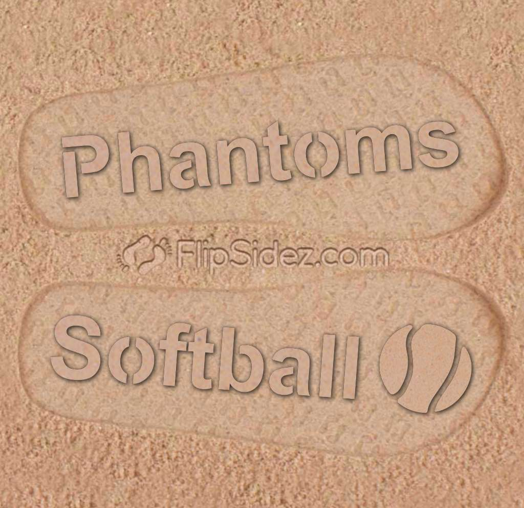 Softball Team Name Flip Flops