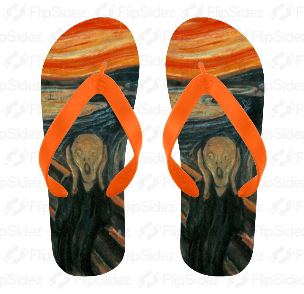 The Scream Printed Flip Flops Flip Flops