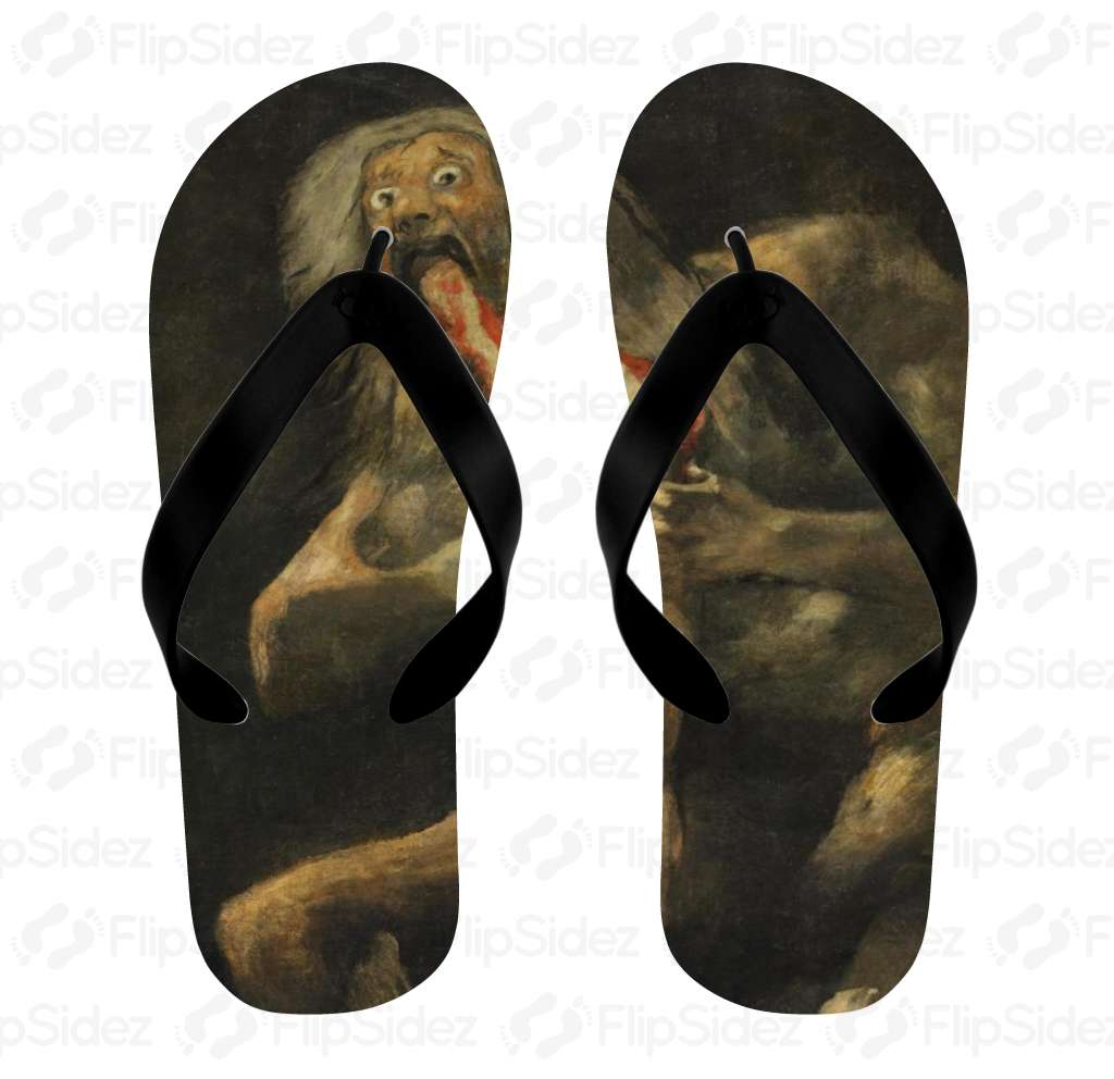 Saturn Devouring His Son Flip Flops