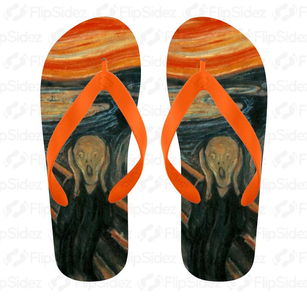 The Scream Flip Flops