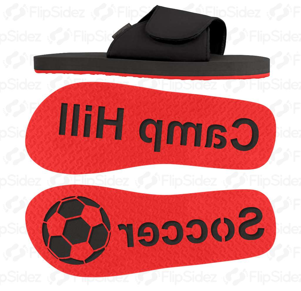 Soccer Team Name Flip Flops