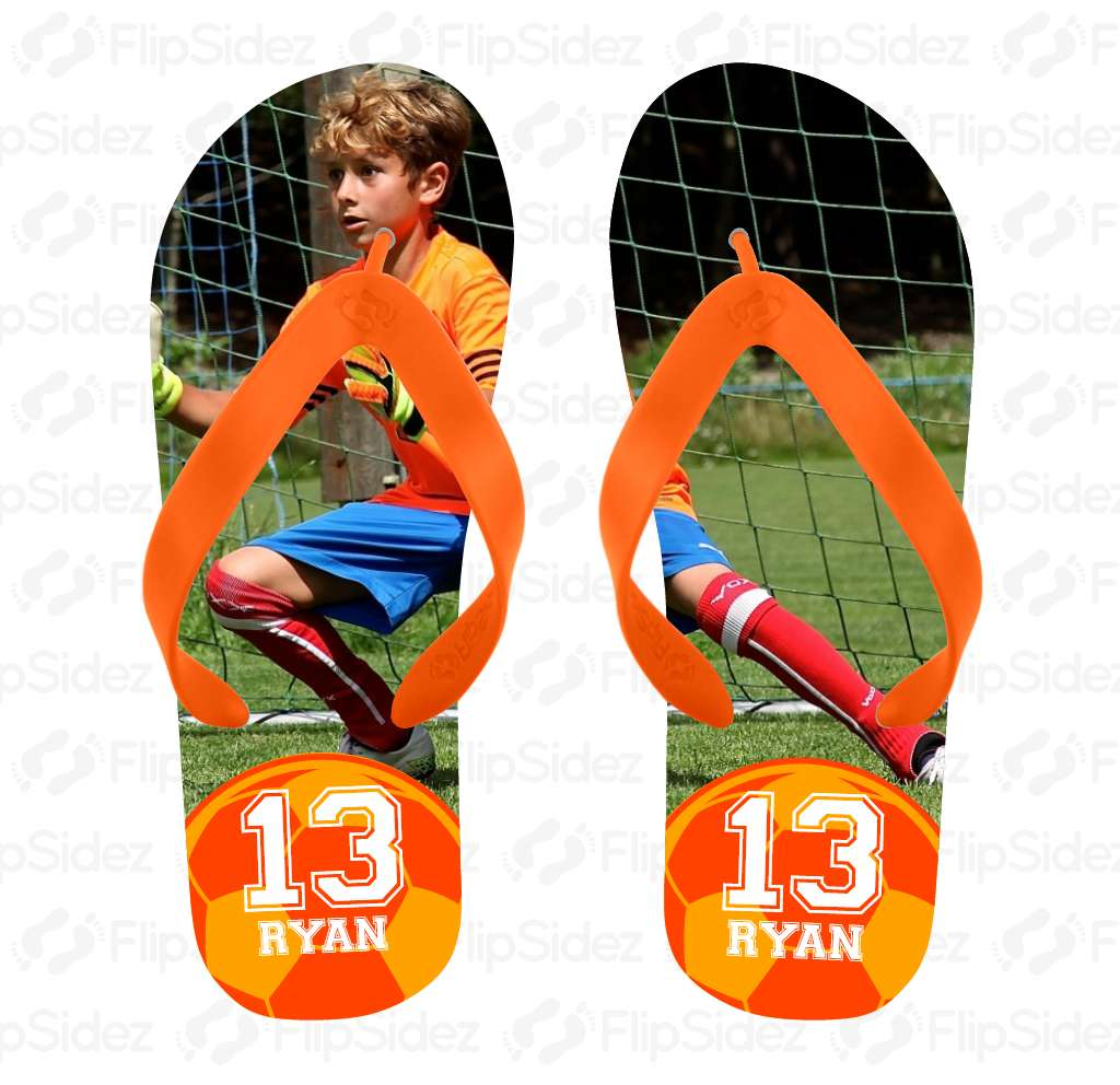 Player Photo Flip Flops