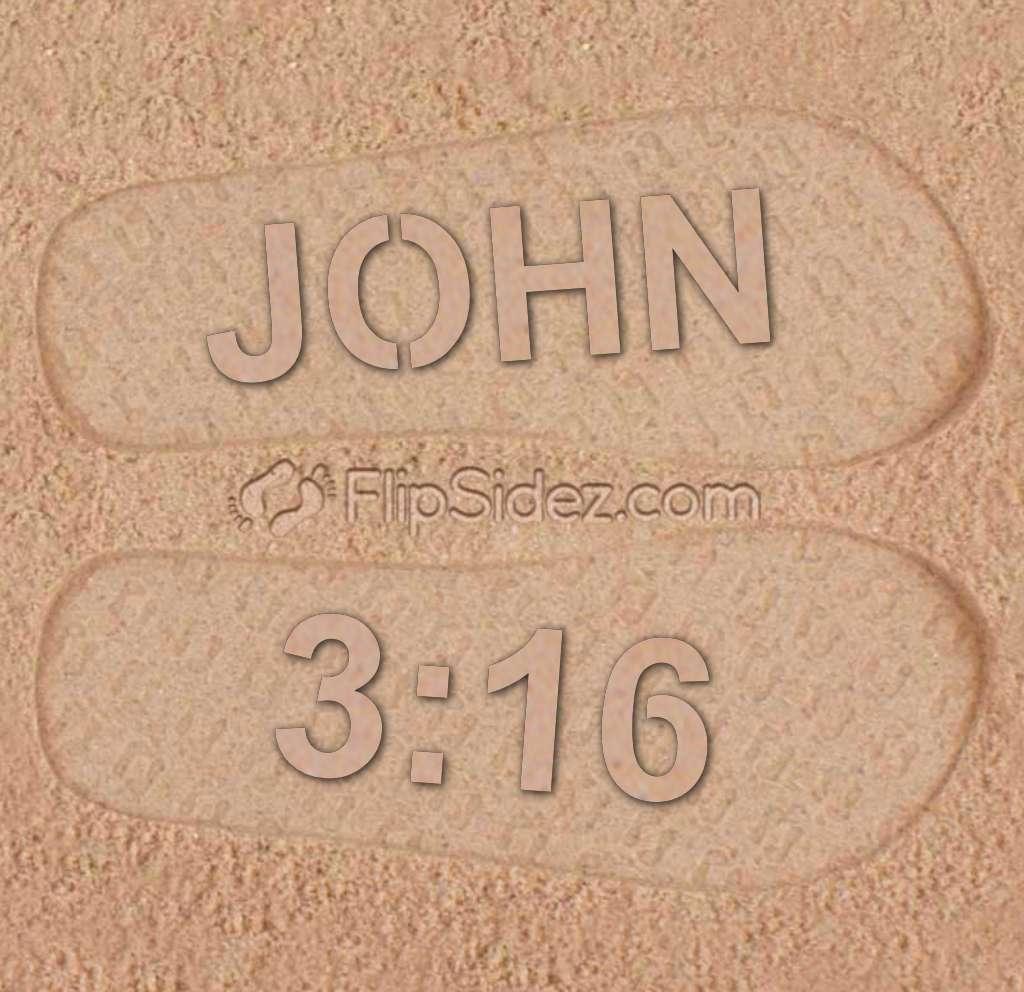 BIBLE VERSE Flip Flops