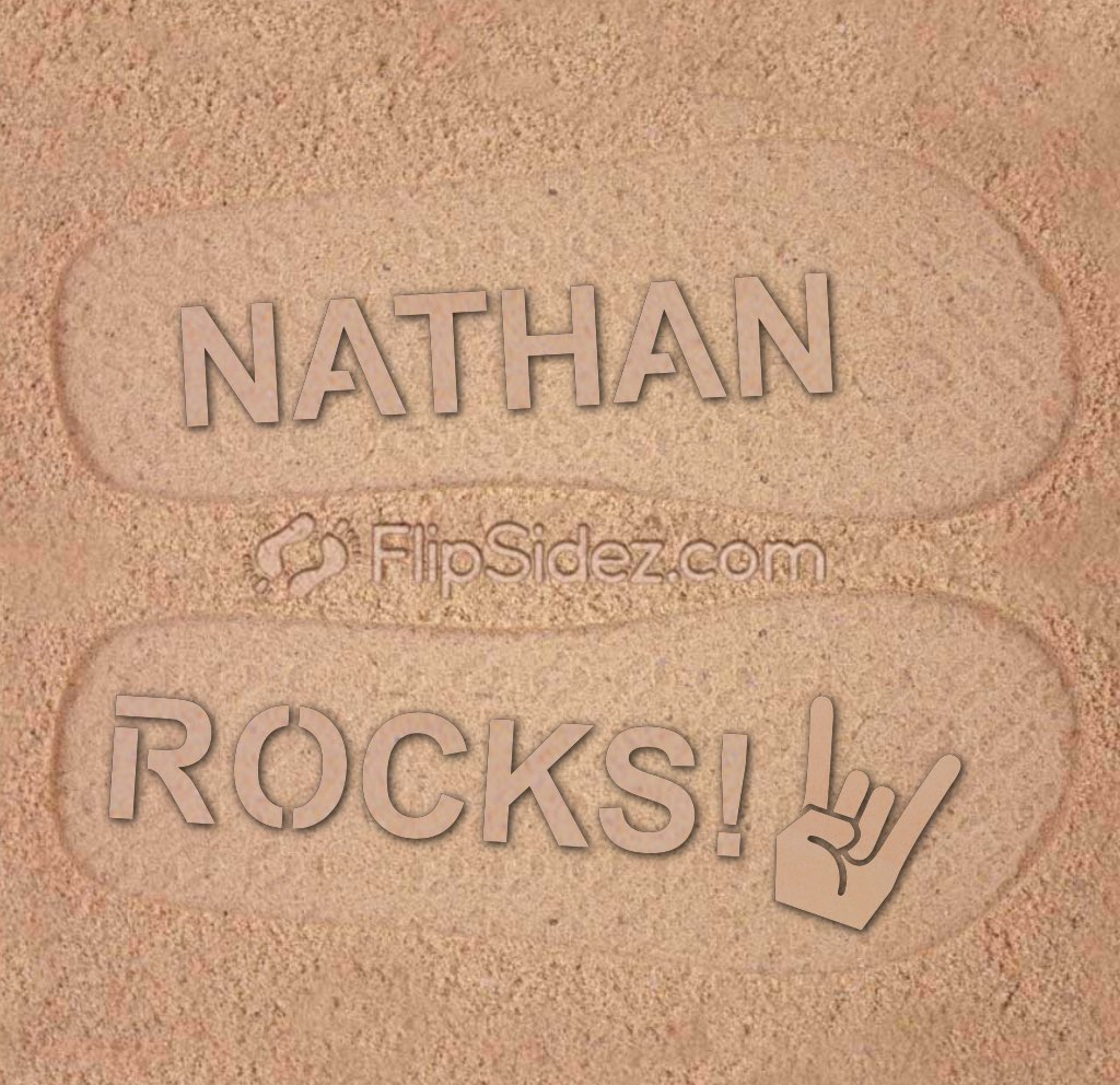 Name ROCKS! Flip Flops