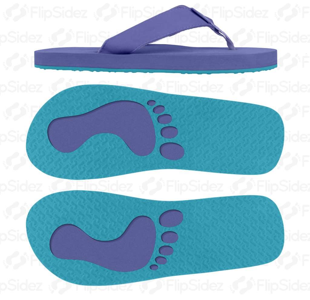 Paranoid Footprints Flip Flops