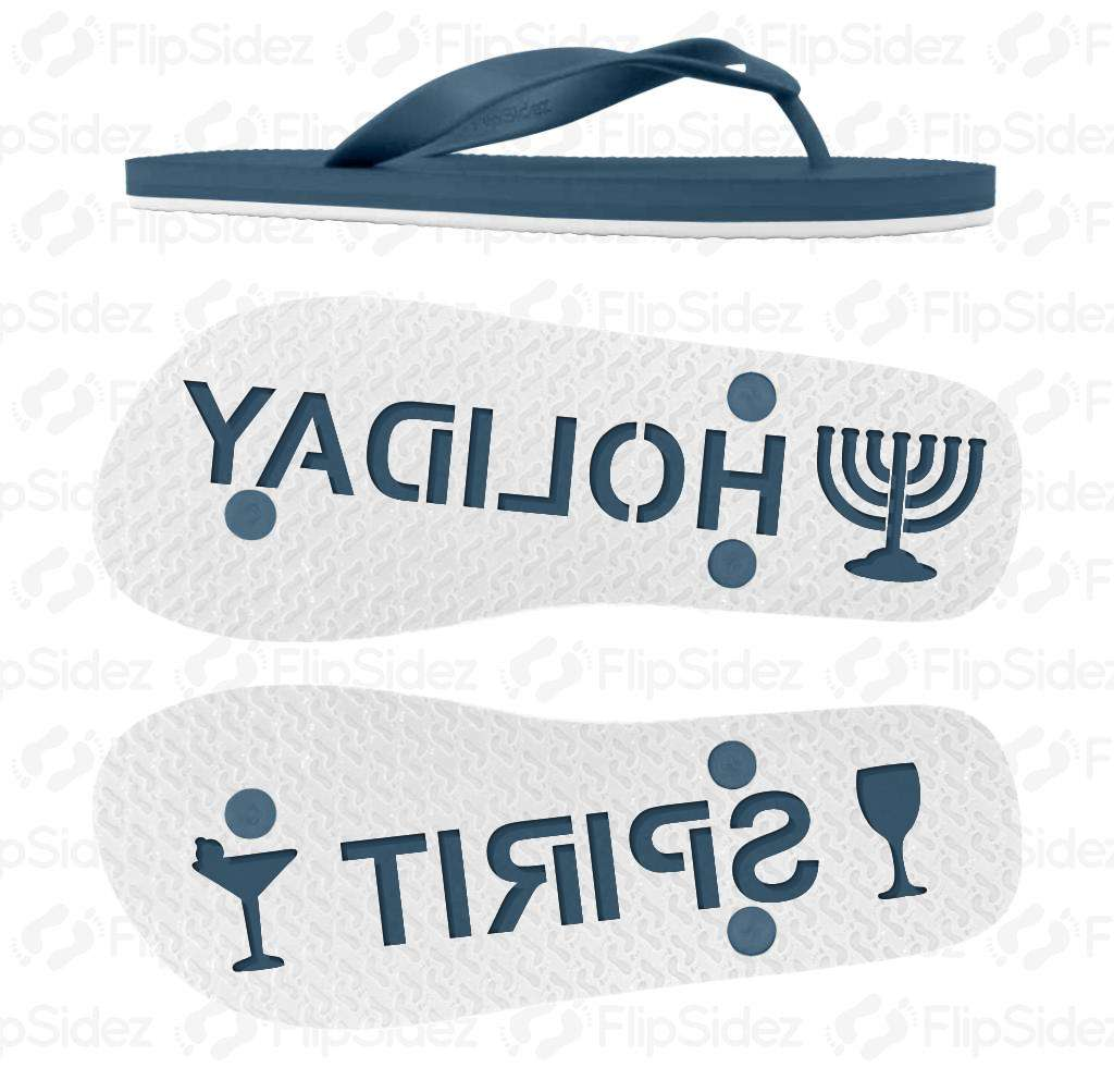 Hanukkah Holiday Spirit Flip Flops
