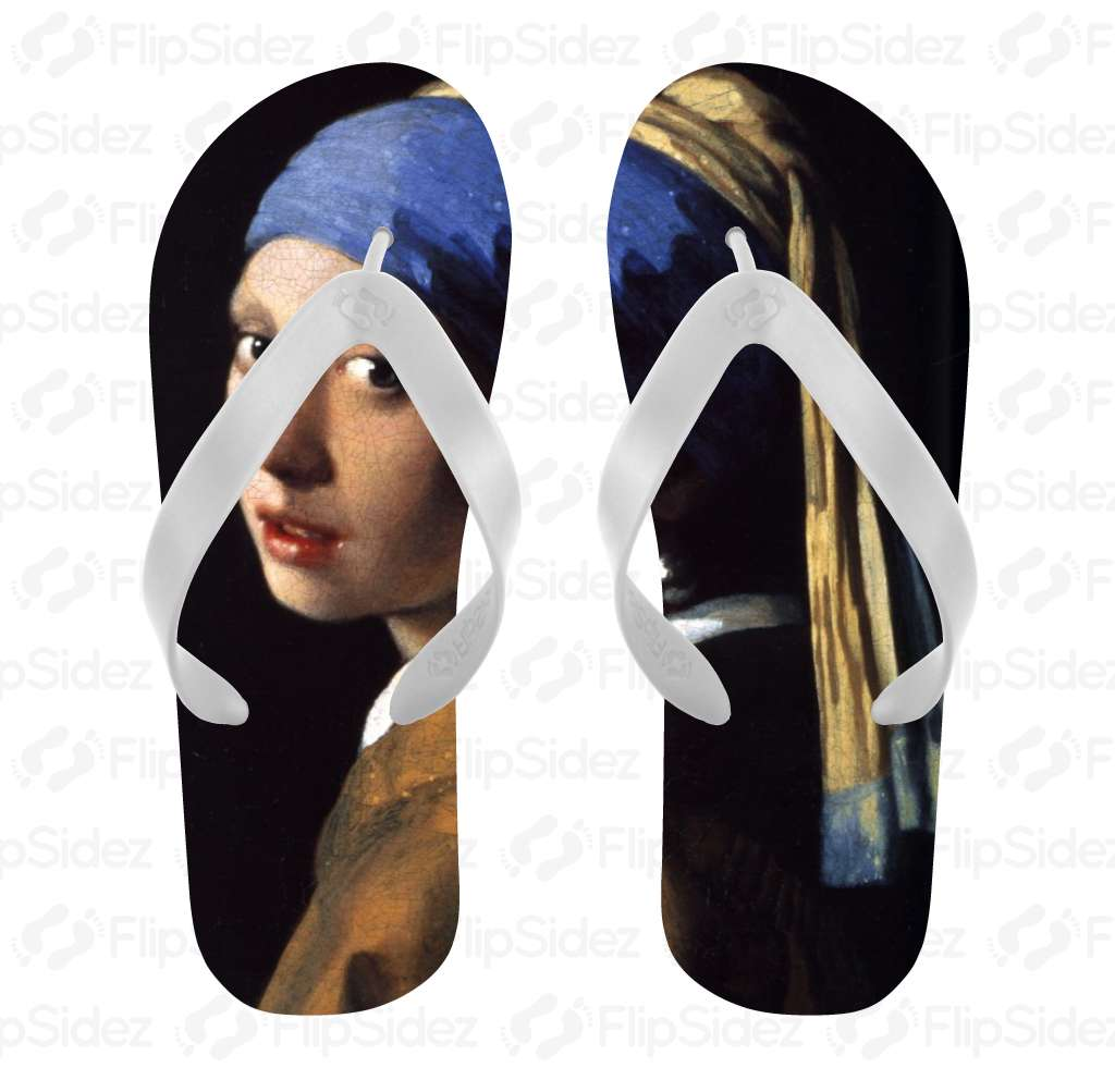 Girl With the Pearl Earring Flip Flops