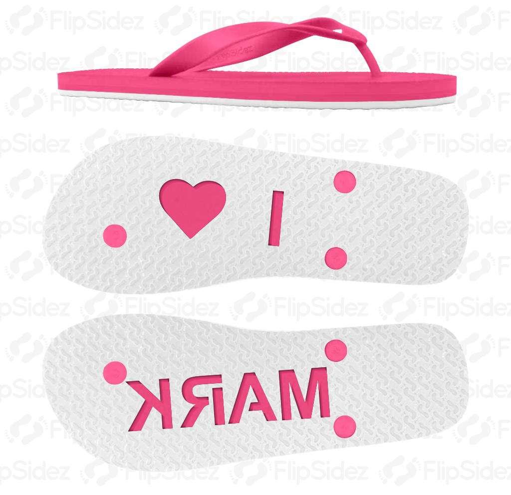 I heart NAME Flip Flops