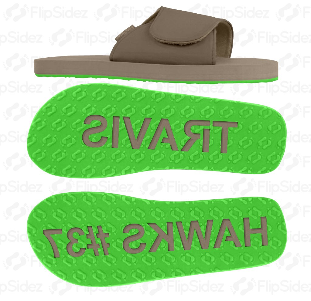 Team and Player Name Flip Flops