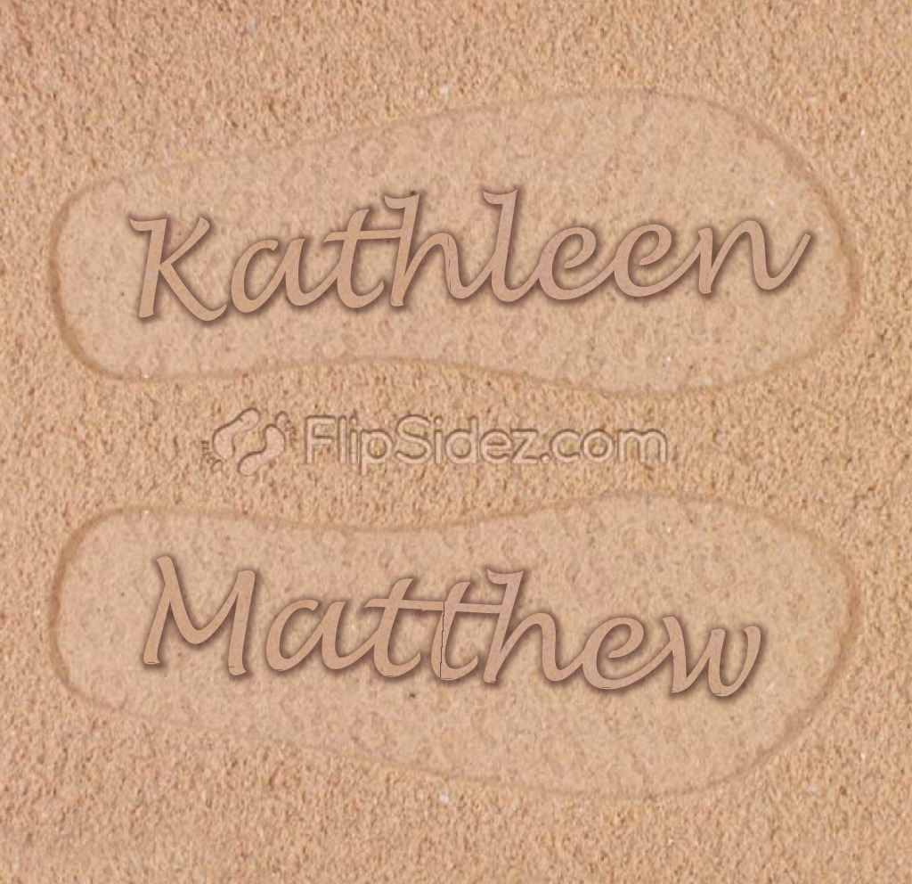 Personalized Couples Flip Flops