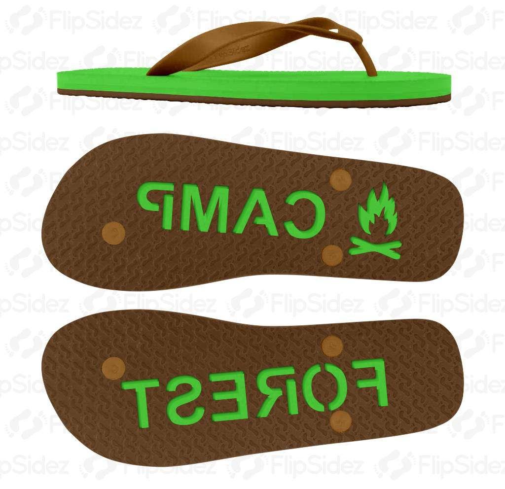 Summer Camp NAME Flip Flops