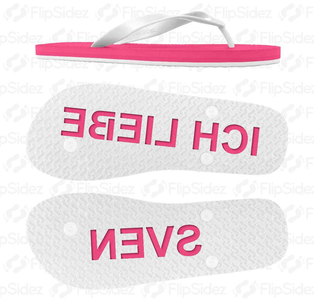Ich liebe Namen Flip Flops