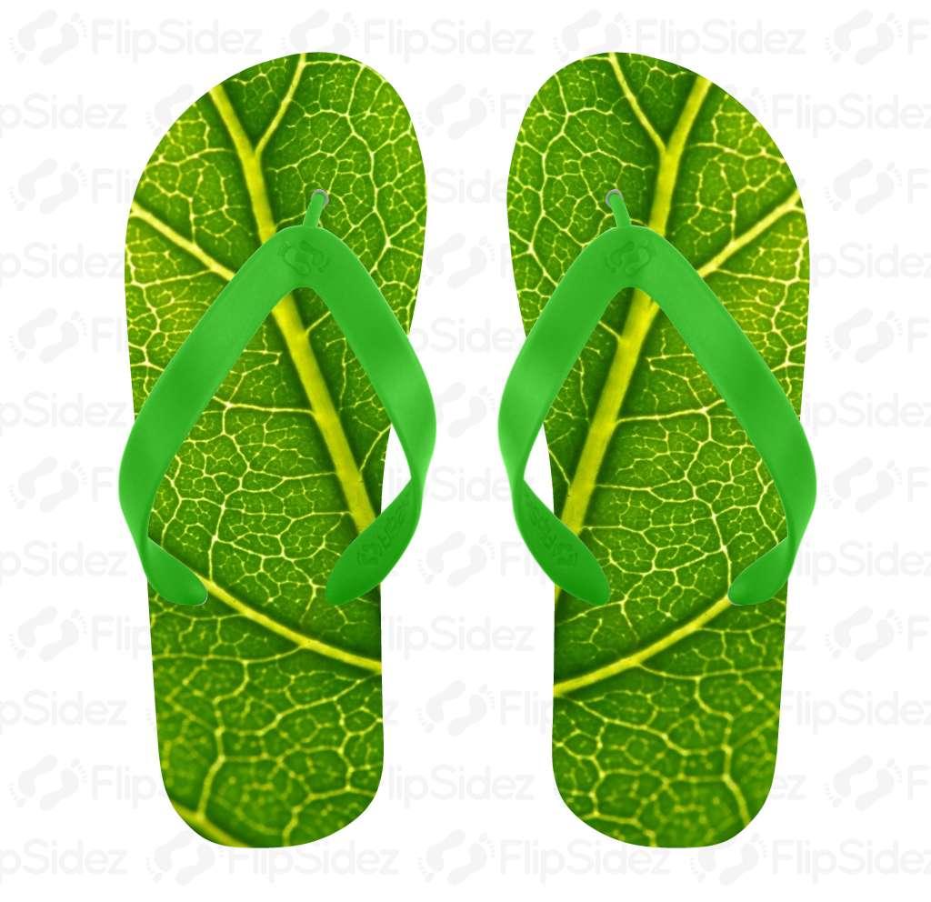 Leaf Pattern Flip Flops