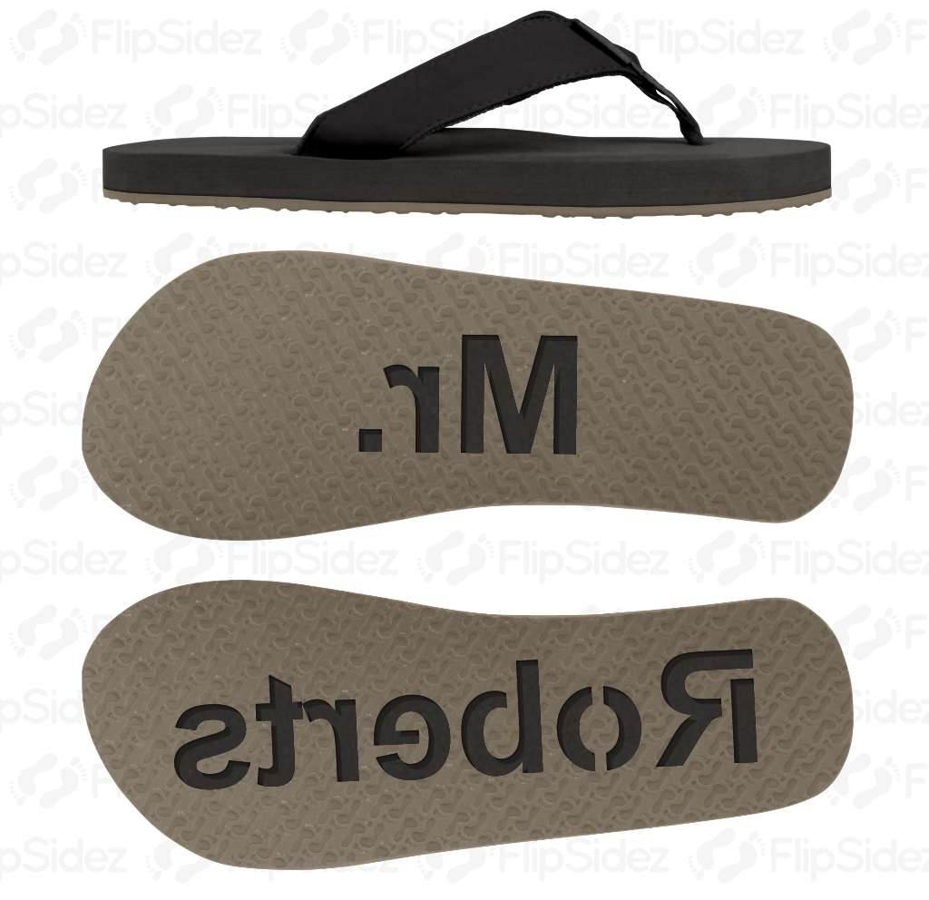Groom NAME Flip Flops