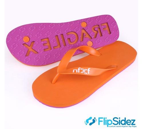 Aangepaste logo-flip-flops