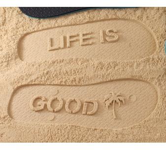 Life Is Good Flip Flops