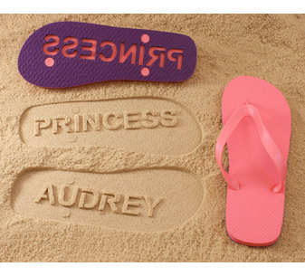 Personalized Name Flip Flops