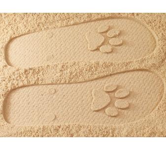 Paw Print Flip Flops