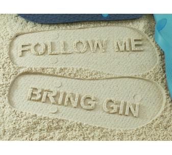 Follow Me Bring Gin Flip Flops