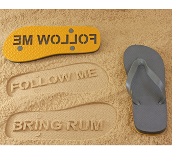 Follow Me Bring Rum Flip Flops