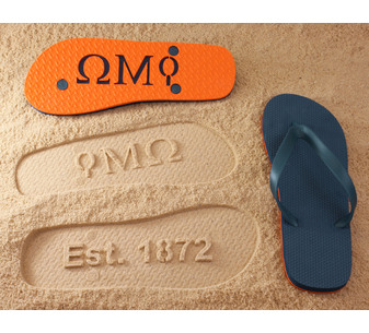 Fraternity and Sorority Flip Flops