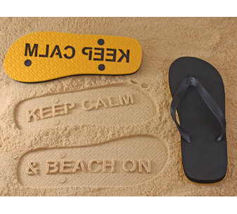 Keep Calm & Beach On Flip Flops
