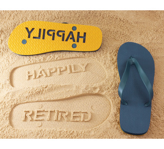 Happily Retired Flip Flops