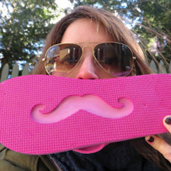 pink mustache picture 241x241