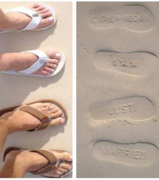 Personalized Wedding Flip Flops
