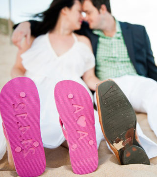 Custom Wedding flip flops